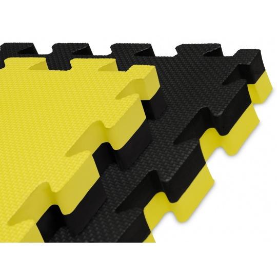 Tatami Puzzle 100x100x4 cm,  žluto-černé