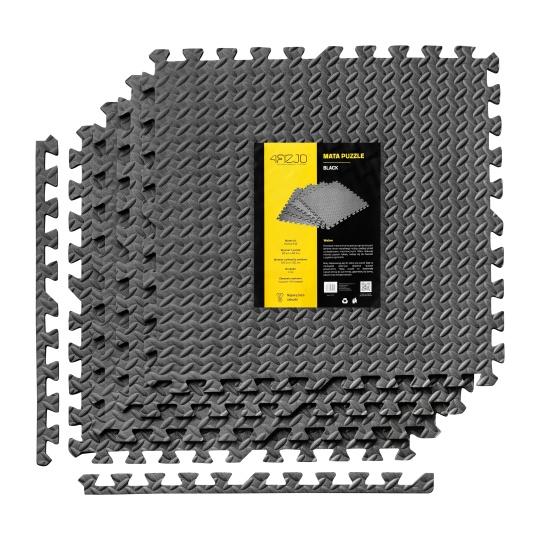 Podložka na cvičenie - Tatami Puzzle 6ks bal. 60 x 60 x 1 cm 4Fizjo čierna