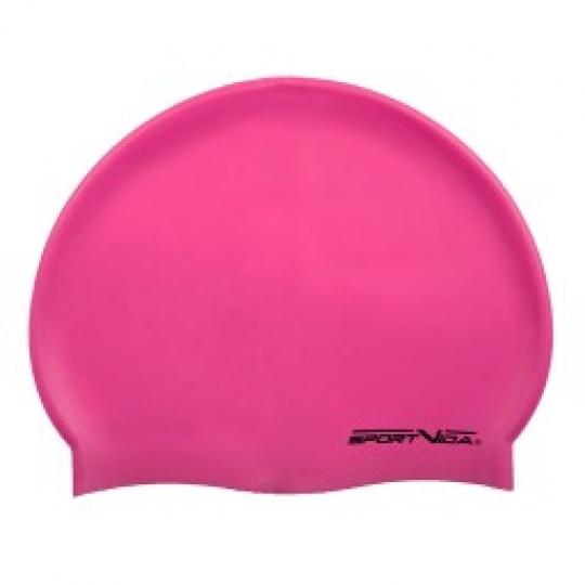 Růžová plavecká čepice