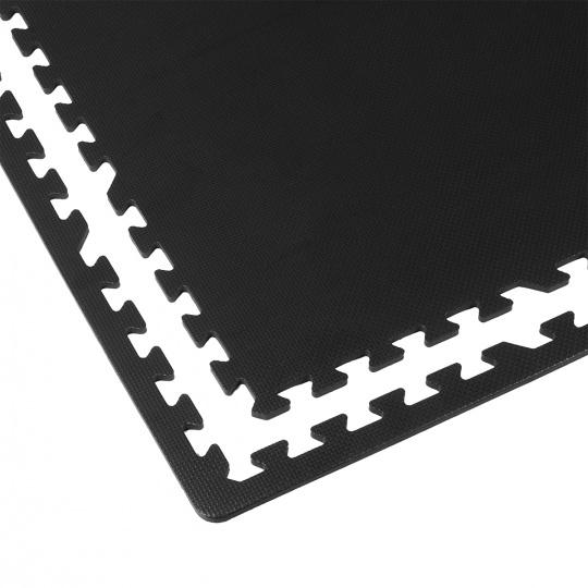 Podložka na cvičenie - Tatami Puzzle 4ks bal 61X61X1 cm čierna