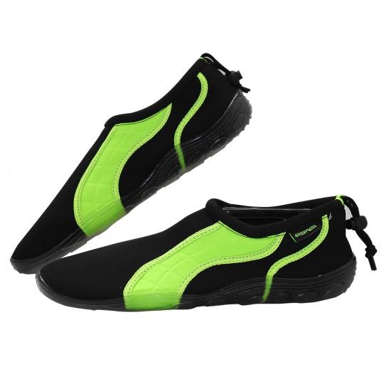 Boty do vody Sportvida černo-zelené